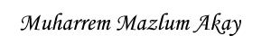 M.Mazlum akay